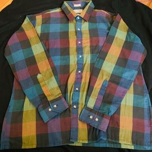 VINTAGE ARROW SPORTSWEAR PLAID BUTTON DOWN SIZE XL